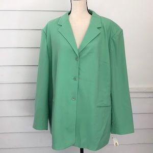 Talbots Green Wool Blazer Jacket 24W